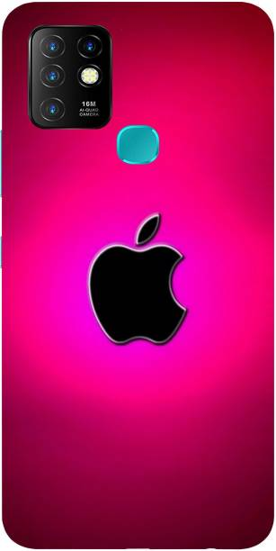 Raydenhy Back Cover for Infinix Hot 10 Printed Colorful Apple, Apple Logo