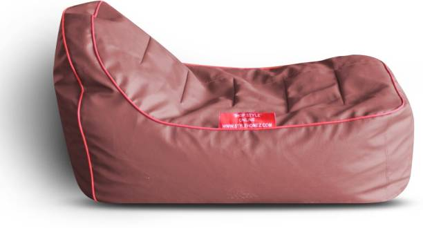 STYLE HOMEZ Solid PU Leatherette L Lounger Kid Bean Bag