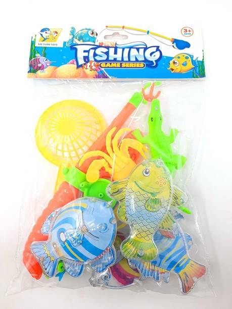 TEMSON Magnetic Fishing Toy Game with Fishing Rod and Colorful Fishes Bath Toy Bath Toy