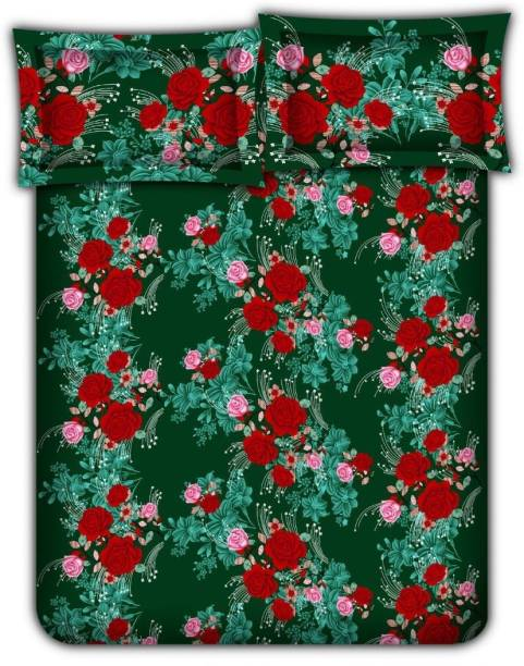 Bombay Dyeing 104 TC Cotton Double Floral Bedsheet