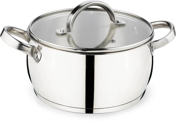 Jindal ARC Home Chef CASSEROLE WITH GLASS LID (20 CM DIAMETER/ 2500 ML) Cook and Serve Casserole