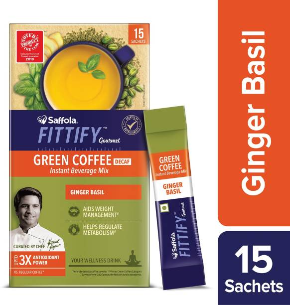 Saffola Fittify Gourmet Ginger Basil Instant Coffee