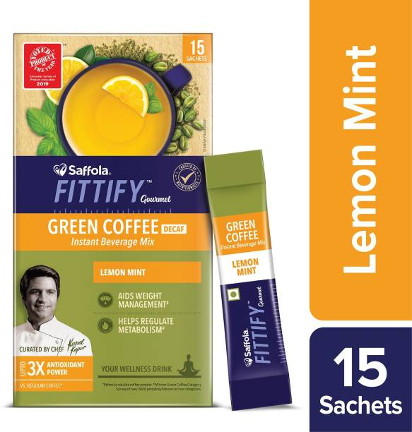 Saffola Fittify Gourmet Lemon Mint Instant Coffee