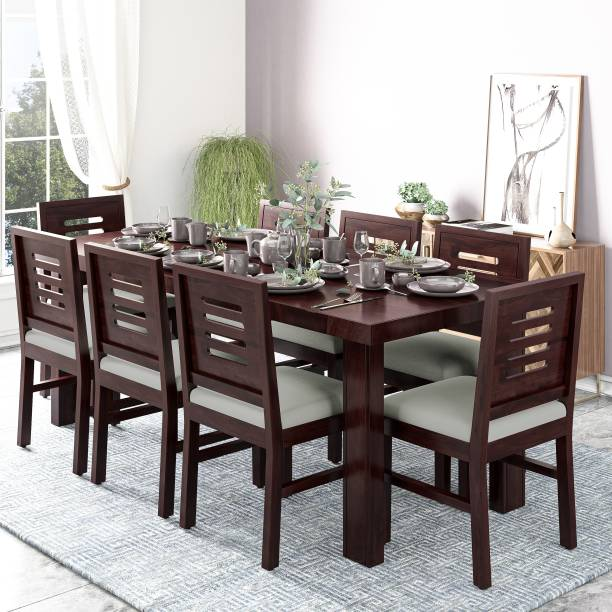 Kendalwood Furniture Premium Dining Room Furniture Wooden Dining Table with 8 Chairs Solid Wood 8 Seater Dining Set