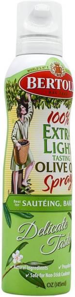 Bertolli 100% Extra Light Tasting Olive Oil Spray, For Sauteing Baking, Delicate Taste - 145ml (5oz) Olive Oil Plastic Bottle