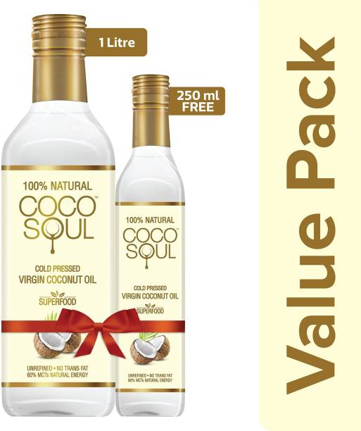 Coco Soul Cold Pressed Natural Virgin Coconut Oil Plastic Bottle