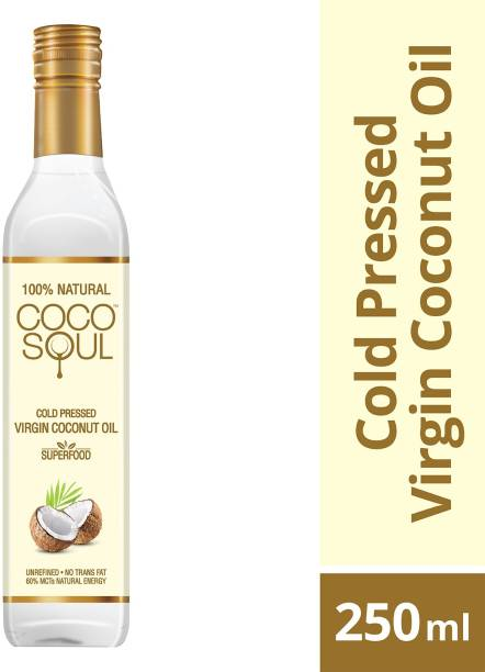 Coco Soul Cold Pressed Natural Virgin Coconut Oil Plastic Bottle