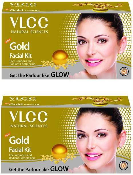 VLCC GOLD FACIAL KIT PACK OF 2 (60 GM X 2),