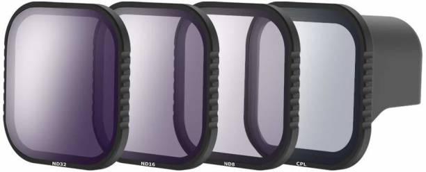 Telesin 3-Pack Lens Filter ND8 ND16 ND32 CPL for GoPro 8 Black, Neutral Density and Polarizing Lens Filter Kit Lens Protector for Go Pro 8 ND Filter