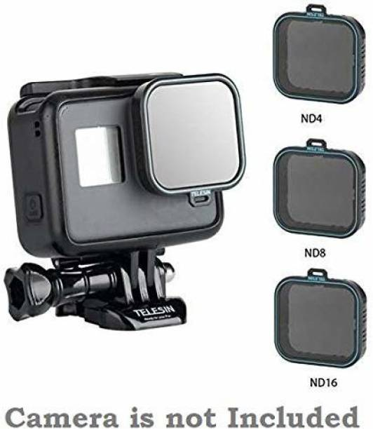 Telesin Neutral Density Filter ND Filters Set, Compatible with GoPro Hero 5/6/7/2018 Action Camera Lens (ND4/8/16) ND Filter