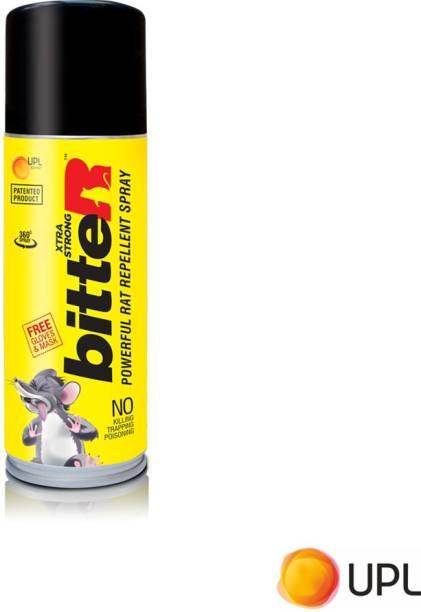 bitteR Powerful Rat Repellent Spray - Patented by UPL LTD, Eco friendly, Odourless, Non Toxic, Safe for Humans and Pets, Effective Rodent Repellent Spray for Car, home and Office