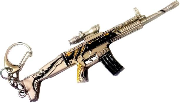eweft Scar L Pubg Gun Keychian Exclusive Premium Quality Metallic Keychain Player Unknown Battle Ground AWM Keychain PUBG Gun Sniper Key Ring / Key Chain Key Chain
