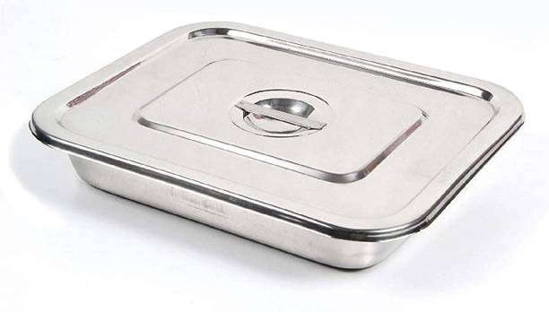 """AMAZECARE ™ 12""""inch x 10"""" inch Instrument Tray With Lid Reusable Medical Tray"""