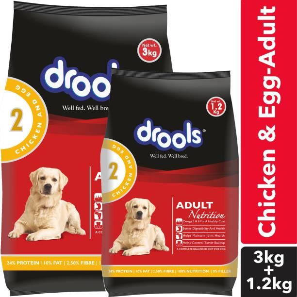 drools Chicken and Egg ADULT Dog Food Egg, Chicken 3 kg Dry Adult Dog Food