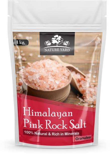 NATURE YARD Himalayan Pink Rock Salt Granules for weight loss- 1kg - 100% Natural and Antioxidant with Essential Minerals Himalayan Pink Salt