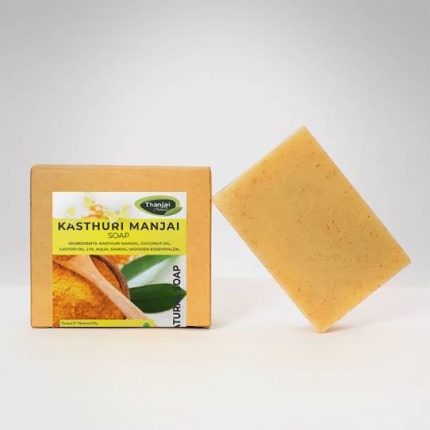 THANJAI NATURAL Kasthuri Manjal Soap Hand Made 110g (110g X 4) Pure Natural