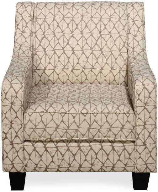@Home by nilkamal Oswald Fabric 1 Seater  Sofa