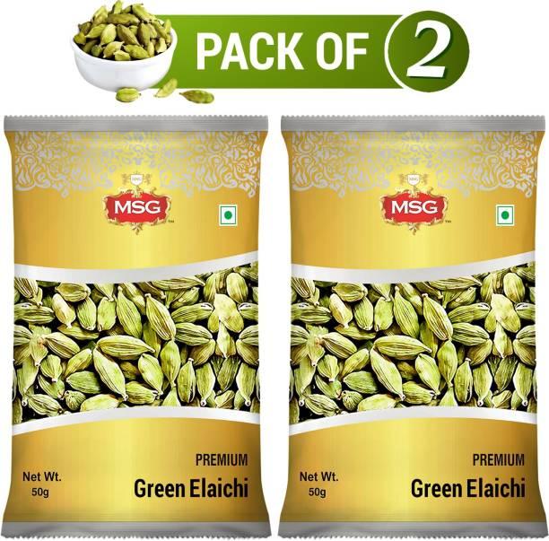 MSG Premium Green (Cardamom) Elaichi (Pack of 2)