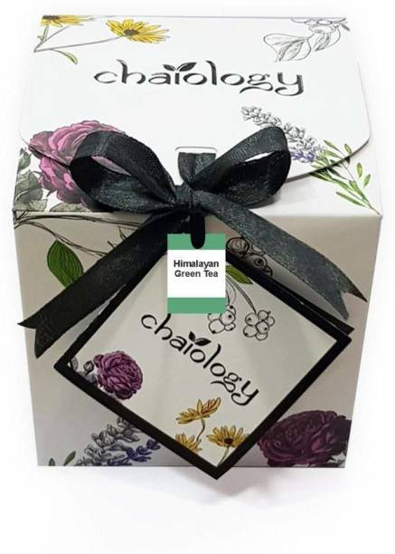 Chaiology Himalayan Green Tea 100 gm (50 Cups) Loose Leaf Green Tea for Weight Loss Fast Whole Leaves Green Tea Box