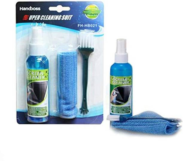Gadget Deals 3 in 1 Screen Cleaning Set for PC, Laptops, Monitors, Mobiles, LCD, LED, TV/Professional Quality with Micro Fibre Cloth and Brush for Laptops, Computers, Gaming, Mobiles