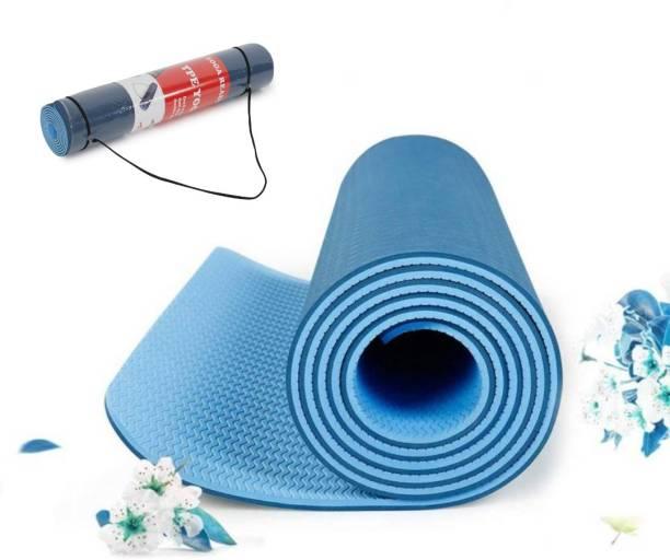 ArrowMax Best in class eco friendly anti slip TPE yoga sports mat Pink Maroon 6MM mm Yoga Mat