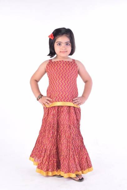 83be79fe88 BownBee Girls Lehenga Choli Ethnic Wear Self Design Ghagra, Choli, Dupatta  Set