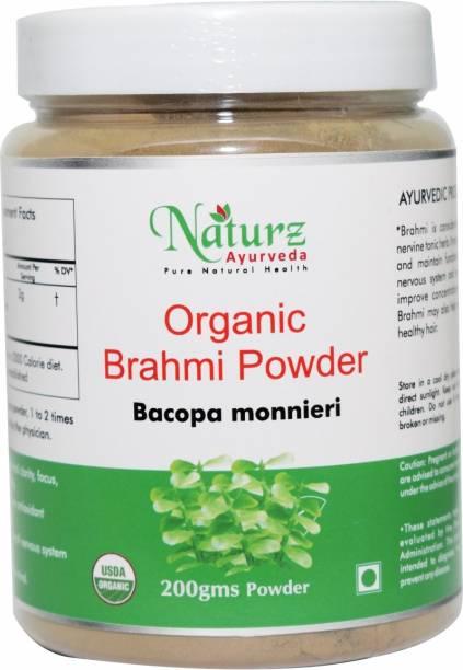 Naturz Ayurveda Organic Brahmi Powder For Brain & Memory - 200g