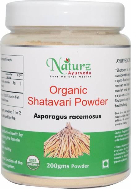 Naturz Ayurveda Organic Shatavari Powder for Women's Health - 200g