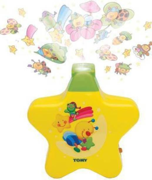 monakarshti HIGH QUALITY LITTLE ANGEL BABY SLEEP STAR PROJECTOR WITH STAR LIGHT CHARACTERS SHOW & MUSIC FOR NEW BORN TODLER BABY BOYS & GIRLS INFANT, MULTI COLOR FOR ALL KIDS (Multicolor) Rattle