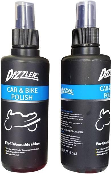 Dazzler Liquid Car Polish for Metal Parts, Dashboard, Chrome Accent, Exterior