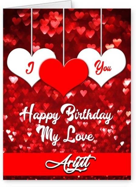 Midas Craft Happy Bithday Arijit ….08 Romantic Birthday Quote Greeting Card