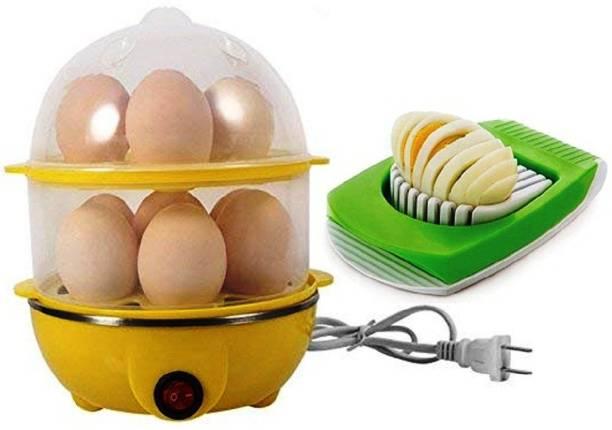 RUDRESHWAR 14 Egg Cooker Double Layer Egg Boiler Electric Cooker 14 Egg Poacher for Steaming, Cooking, Boiling Egg Cooker