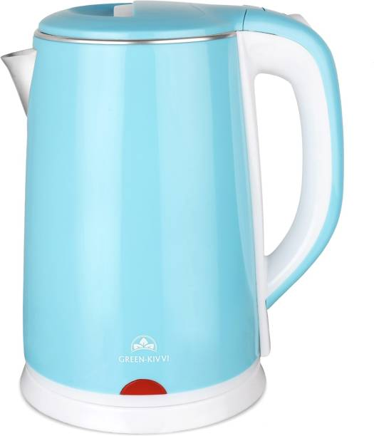 green kivvi 908A-23-BLUE Double Wall Electric Kettle