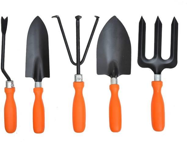 JetFire Garden Tool Set Includes, Shovel, Trowel, Weeder, Fork and Cultivator Garden Tool Kit