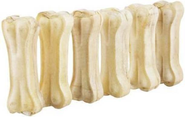 LG CREATIONS Pet Food & Supplies Bones White Dog Chew 3 Inch Pack of 6 Dog Chew Chicken Dog Chew