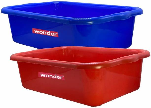 Wonder Exel 666 Bathtub Tray, Set of 2, Red & Blue Color, , KBS01785 Tray