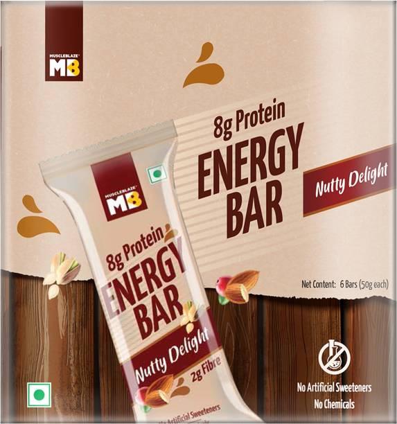 MUSCLEBLAZE Energy Bar, Nutty Delight Nutrition Bars