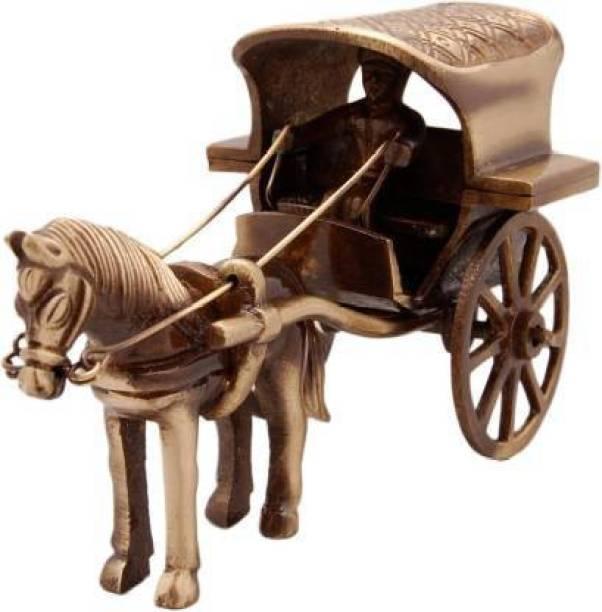 Devcrafts Cart Medium Antique Decorative Showpiece - 6.2 cm (Marble, Brown) Decorative Showpiece  -  6.2 cm