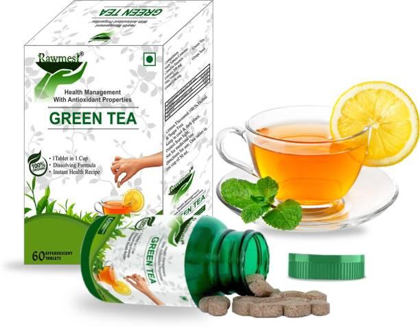 Rawmest Lemon Green Tea Tablets for Weight Loss (60 Effervescent Tablets) | HEAL TEA