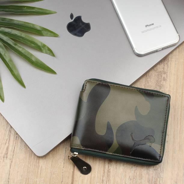 WILD EDGE Men Green Artificial Leather Wallet