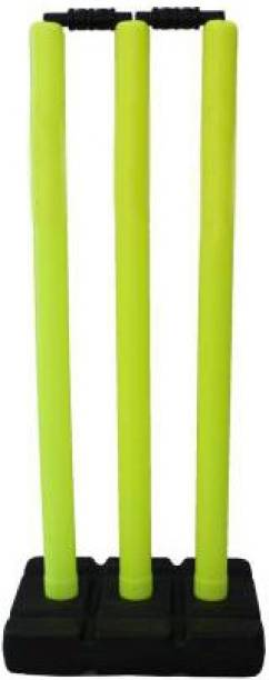 L'AVENIR SPORTS Good Quality Plastic Stumps - 3 Wickets + 2 Bails (Best for GULLY CRICKET)