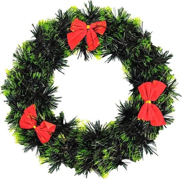 Mancloem Green Wreath FOr Christmas Tree Decoration Wreath Pack of 1