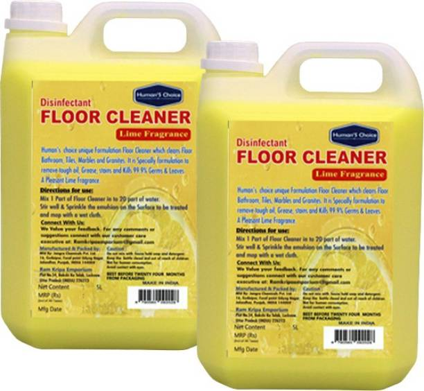 Humans choice Floor Cleaner 5 L pack of 2 Lime fragrance