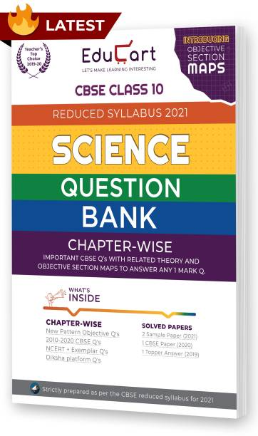 Educart Cbse Science Class 10 Question Bank (Reduced Syllabus) for 2021