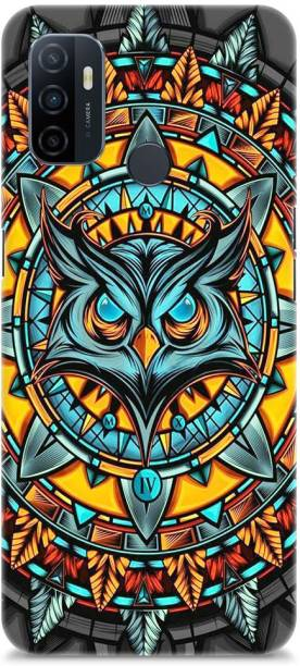 Roochyam Back Cover for OPPO A53 2020 ( Owl Abstract Pattern)