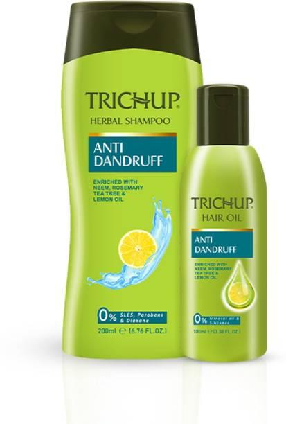 TRICHUP Anti Dandruff Oil 100 ml and Anti Dandruff Shampoo 200 ml Kit