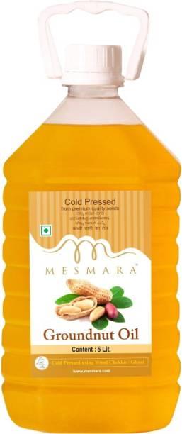Mesmara Groundnut Oil - Cold Pressed(Virgin, Kachi Ghani/Wooden Chekku) Groundnut Oil PET Bottle
