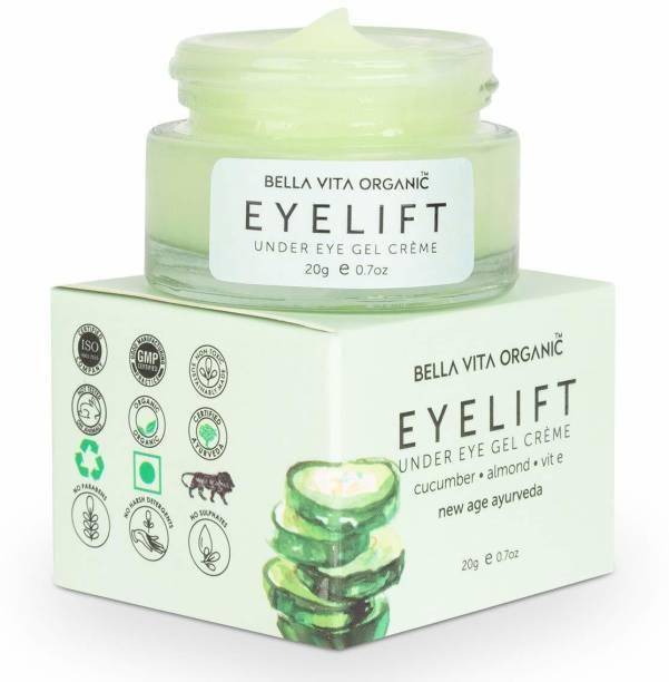 Bella vita organic EyeLift Eye Cream Gel for Dark Circles, Puffy Eyes, Wrinkles & Removal