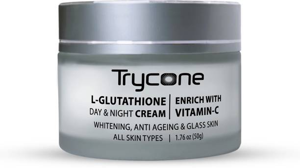 Trycone L- Glutathione Cream for Skin Whitening, Anti Ageing and Glass Skin, Enrich with Vitamin C, 50 Gm