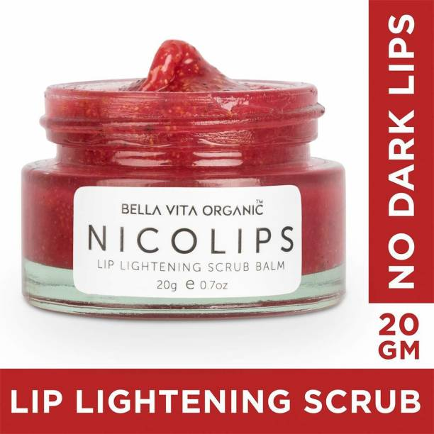 Bella vita organic NicoLips Lip Balm Scrub For Lightening & Brightening Dark Lips Bubblegum Flavor